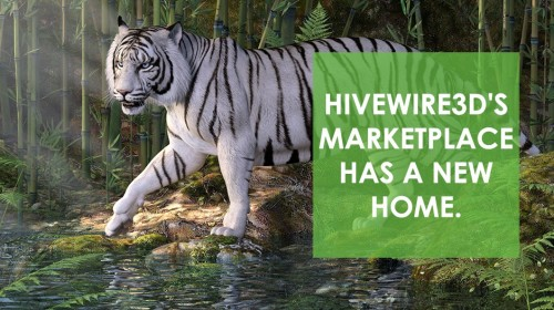 HiveWire3D's Marketplace has a new home.